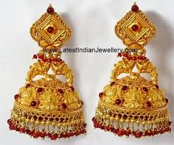 kerala style jhumka earrings 86 best of gold earrings images on gold