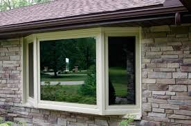 exterior attractive bay windows lowes for awesome home ideas stone veneer siding and bay windows lowes for home exterior design idea