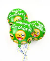 helium birthday balloons 18 emoji birthday balloon foil mylar balloons fast shipping usa
