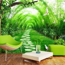 Photo Mural Wallpaper by Custom Photo 3d Mural Wallpaper Fresh Bamboo Forest Road 3d Wall
