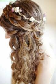 half up curly formal hairstyle