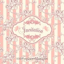 Wedding Invitation Cards Free Vectors Wedding Invitation Cards With Floral Elements