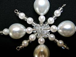 pearl snowflake ornament domestic