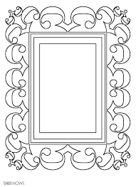 140 bos coloring blank frames images book