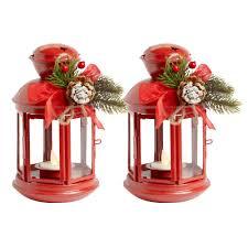 8 u201d led tealight christmas lantern with star cutouts set of 2