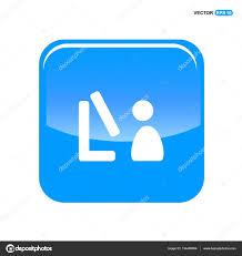 telecharger icone bureau personne travaillant à l icône de bureau image vectorielle