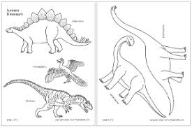 dinosaurs jurassic period printable templates u0026 coloring pages