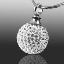 crystal ball pendant necklace images Crystal ball cremation jewelry jpg
