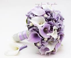 wedding flowers lavender songs from the garden real touch silk wedding flowers bouquets
