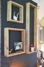 3 white birch branches with ebony stained birch wood shelves this