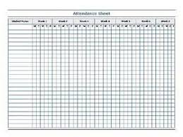free printable attendance sheets trials ireland