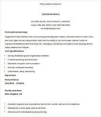 Hostess Resume No Experience Chili Hostess Cover Letter