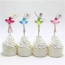 Baking Favors by 24pcs Lot Happy Birthday Ballet Cake Toppers