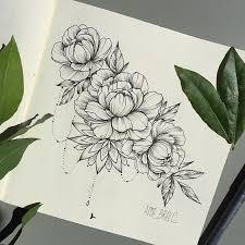tattoo flower drawings peony drawings tattoo ideas pinterest peony draw and tattoo