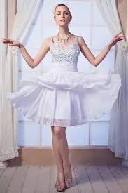 straps beading knee length skirt light lavender prom dress