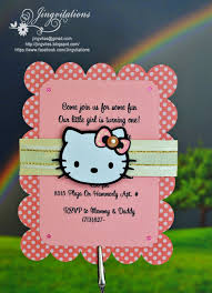 jingvitations hello kitty for baby shower birth announcement or