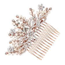 jon richard jon richard gold pearl and spray hair comb bridal