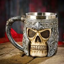 halloween goblets resin u0026 stainless steel fantasy tankards and goblets mugdom