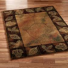 Orange And Brown Area Rugs Gold Leaf Area Rug
