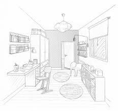 dessin de bureau 1 étage d une maison 3 chambres 1 bureau 2 salles d eau les