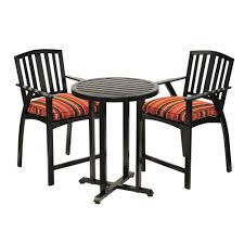 Striped Cushions Online Sunjoy Avery 3 Piece Aluminum Patio Bistro Set With Black Striped