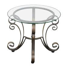 Coffee Table With Metal Base by 90 Off Rooms To Go Rooms To Go Bronze Metal Base With Glass Top