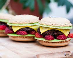 fond ecran cuisine fond d écran bijoux sucrés macaron hamburger bijoux sucrés