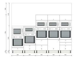 hauteur colonne cuisine meuble haut pour four encastrable unique meuble cuisine colonne