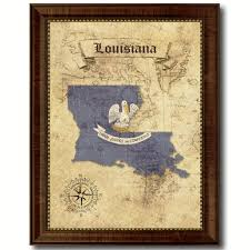 louisiana state vintage map art office wall home decor rustic gift