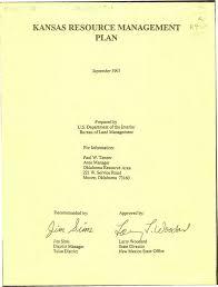 bureau ude g technique kansas resource management plan and record of decision