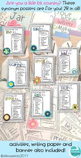 synonym posters country chic theme writing paper students and
