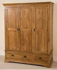 Solid Oakland Chunky Oak Triple Wardrobe  Bedroom Storage - Oakland bedroom furniture
