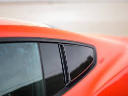 mustang quarter 2015 2018 mustang roush quarter window scoops painted black