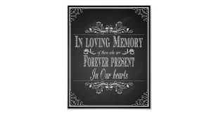 in loving memory wedding wedding sign in loving memory zazzle au