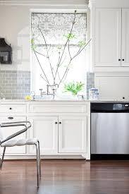 kitchen with subway tile backsplash white kitchen with half tiled gray subway tile backsplash