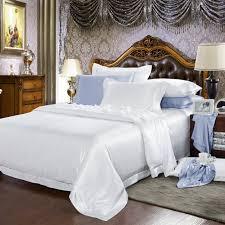 White Silk Bedding Sets 25 Momme 100 Silk Bedding Set Lulusilk