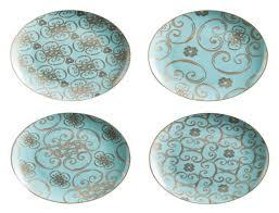 arabesque dessert plate set of 4 u2013 papaver home