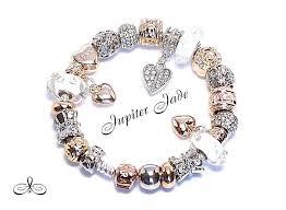 charm bracelet charms white gold images Pandora test product rose gold dipped silver twelve charms and a jpg