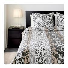 prakttry duvet cover and pillowcase s gray white beige full