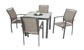 viena 5pc square commercial dining set charcoal mocha with 90x90cm