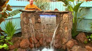 beautiful backyard waterfalls video diy