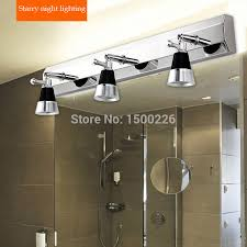 Bathroom Led Mirror Light 2018 Led Mirror Light 1 2 3 Plugs Ac 90 260 Stainless Steel