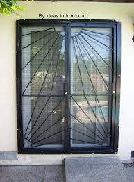 French Door Security Bar - of patio security doors single and french doors and window guards
