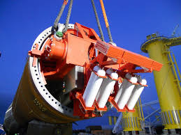 using offshore pile upending tool to control the lifting of