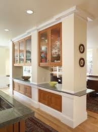 rustic room dividers kitchen traditional with dining hutch wood