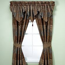 Chocolate Brown Valances For Windows Croscill Galleria Window Curtain Panel Pair And Valance In