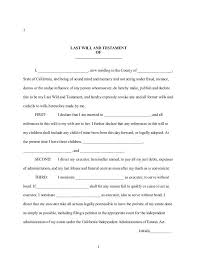 writing a will template template design