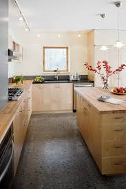 seattle maple kitchen cabinets contemporary with light blue wall