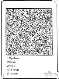 advanced color number coloring pages google coloring
