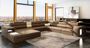 italian leather sofas contemporary furniture accessories u shaped brown modern leather sectional sofa